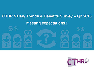 CTHR Salary Trends & Benefit Survey - Q2 2013