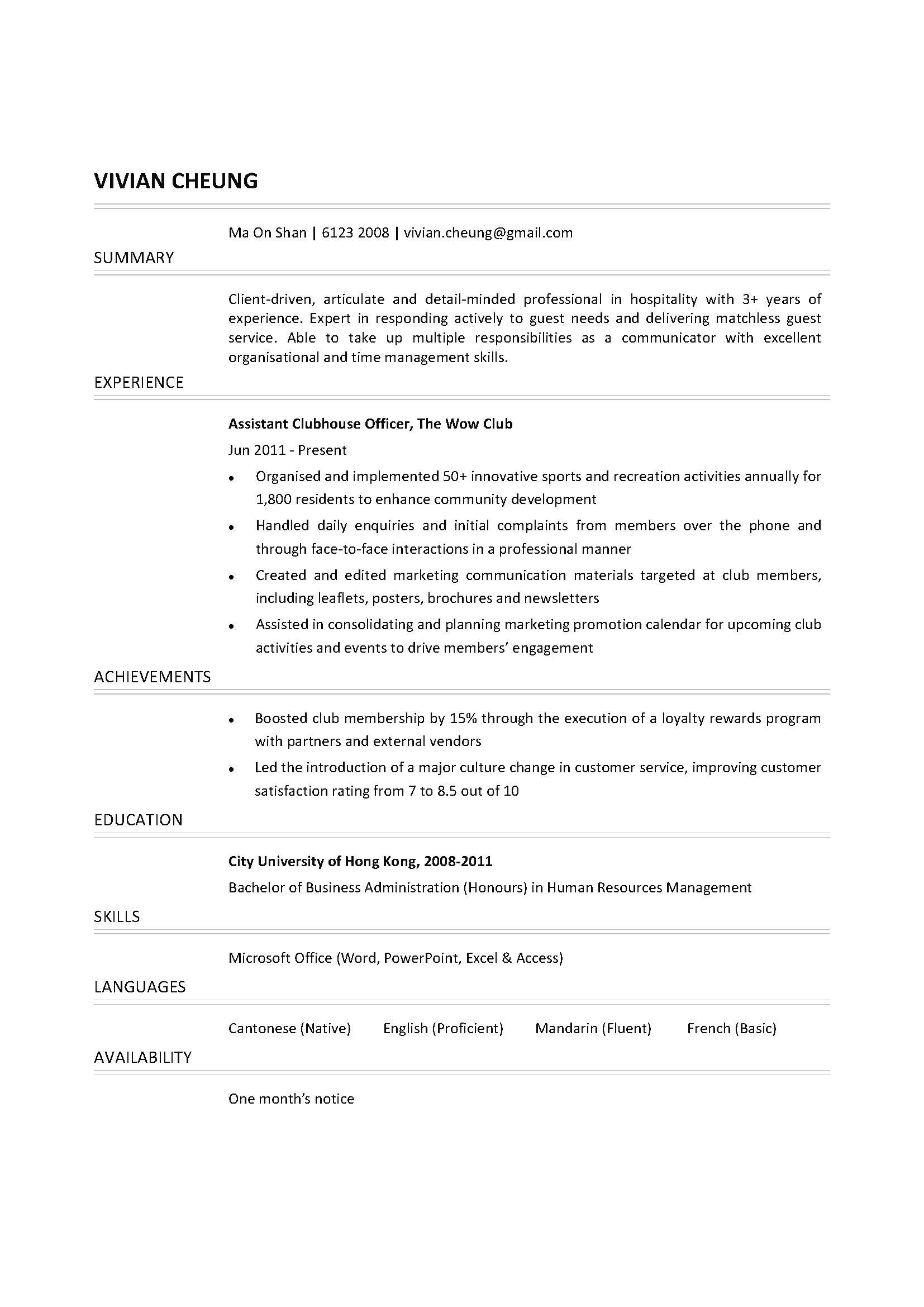 Clubhouse attendant resume business finance essay topics