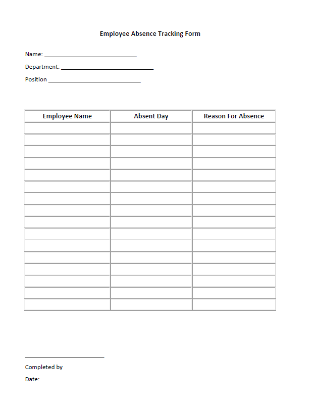 Employee Absence Tracking