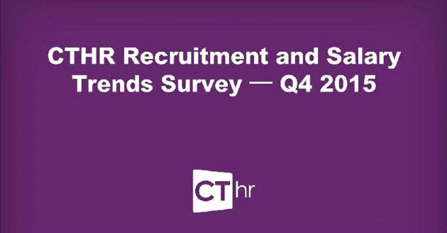 CTHR Recruitment and Salary Trends Survey Q4 2015